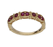 Judith Ripka 14K Gold Ruby Band Ring - J382390