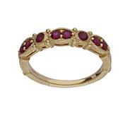 Judith Ripka 14K Gold Ruby Band Ring - J382390