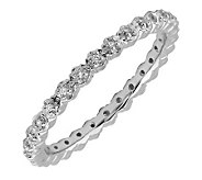 Simply Stacks Sterling & Diamonds 2.25mm Eternity Ring - J299291