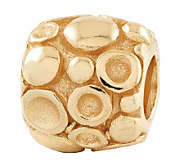 Prerogatives 14K Yellow Gold-Plated Sterling Dots Bali Bead - J302691