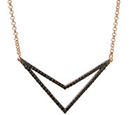 Bronzo Italia Gemstone or Crystal Chevron 18 Necklace - J337791