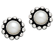 Honora Girls Sterling Beaded & Freshwater PearlEarrings - J339891