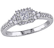 Princess-Cut Diamond Ring, 1/2cttw, 14K Gold, by Affinity - J340891