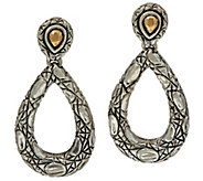 JAI Sterling Silver and 14K Croco Drop Earrings - J347691