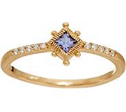 Judith Ripka 14K Gold Gemstone & Diamond Ring - J348091