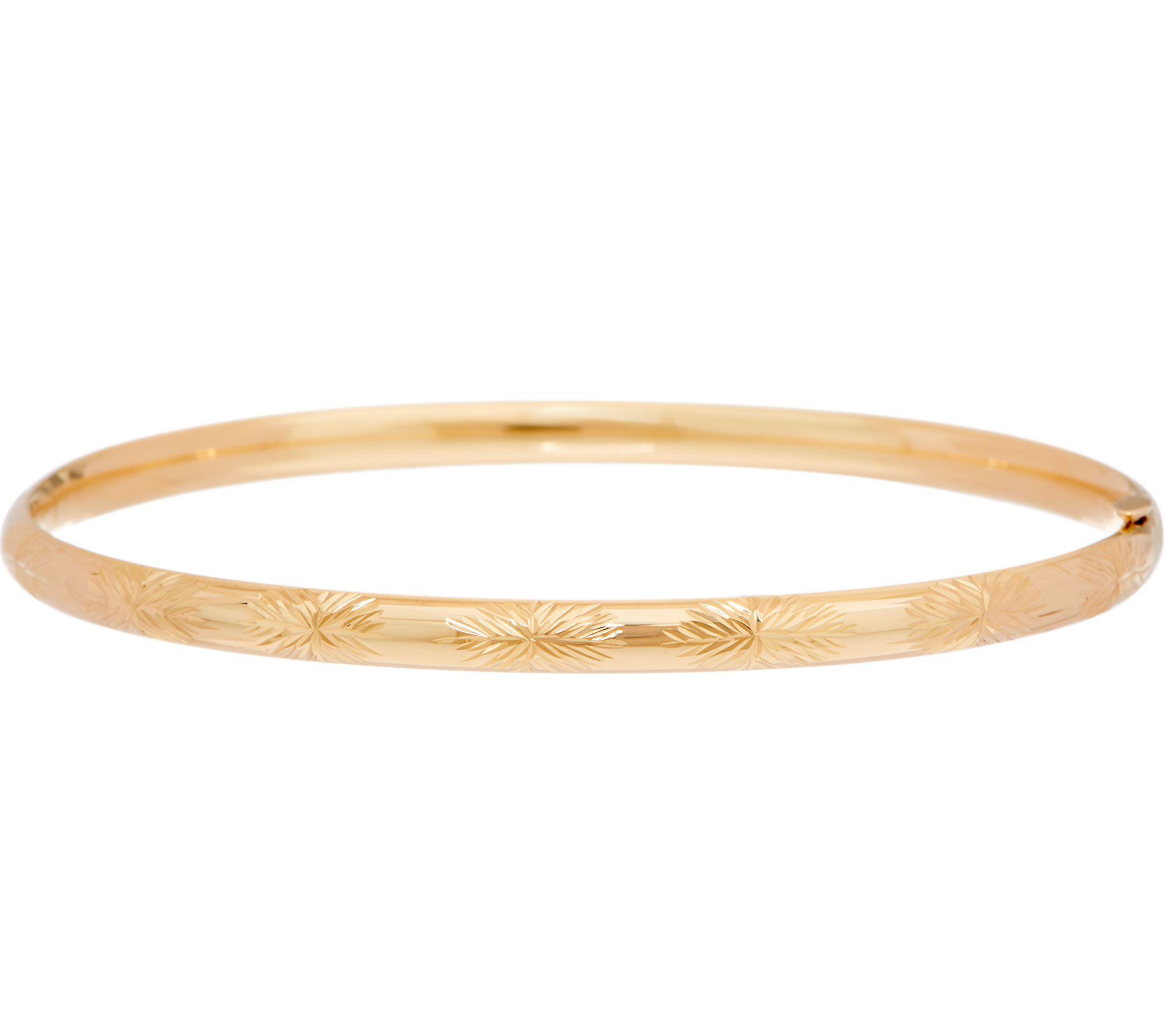 Eternagold Bangle Bracelet 14k Gold Qvc