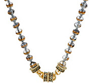 Kirks Folly Cosmic Crystal Beaded Magnetic Necklace - J351491
