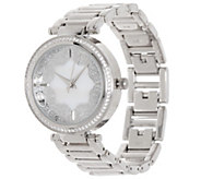 Diamonique Round Watch with Filigree Dial, Boxed - J354791