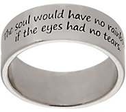 American West Sterling Silver Wisdom Message Band Ring - J355691