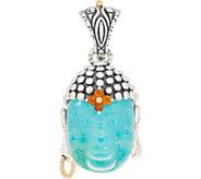 Barbara Bixby Sterling Silver & 18K Turquoise Doublet Buddha Enhancer - J357791