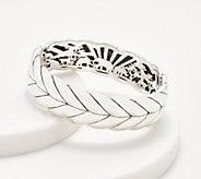 JAI Sterling Silver Wide Basketweave Bangle, 67.7g - J359591