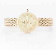 Vicence Average Round Woven Strap Watch 14K Gold, 24.8g - J359791