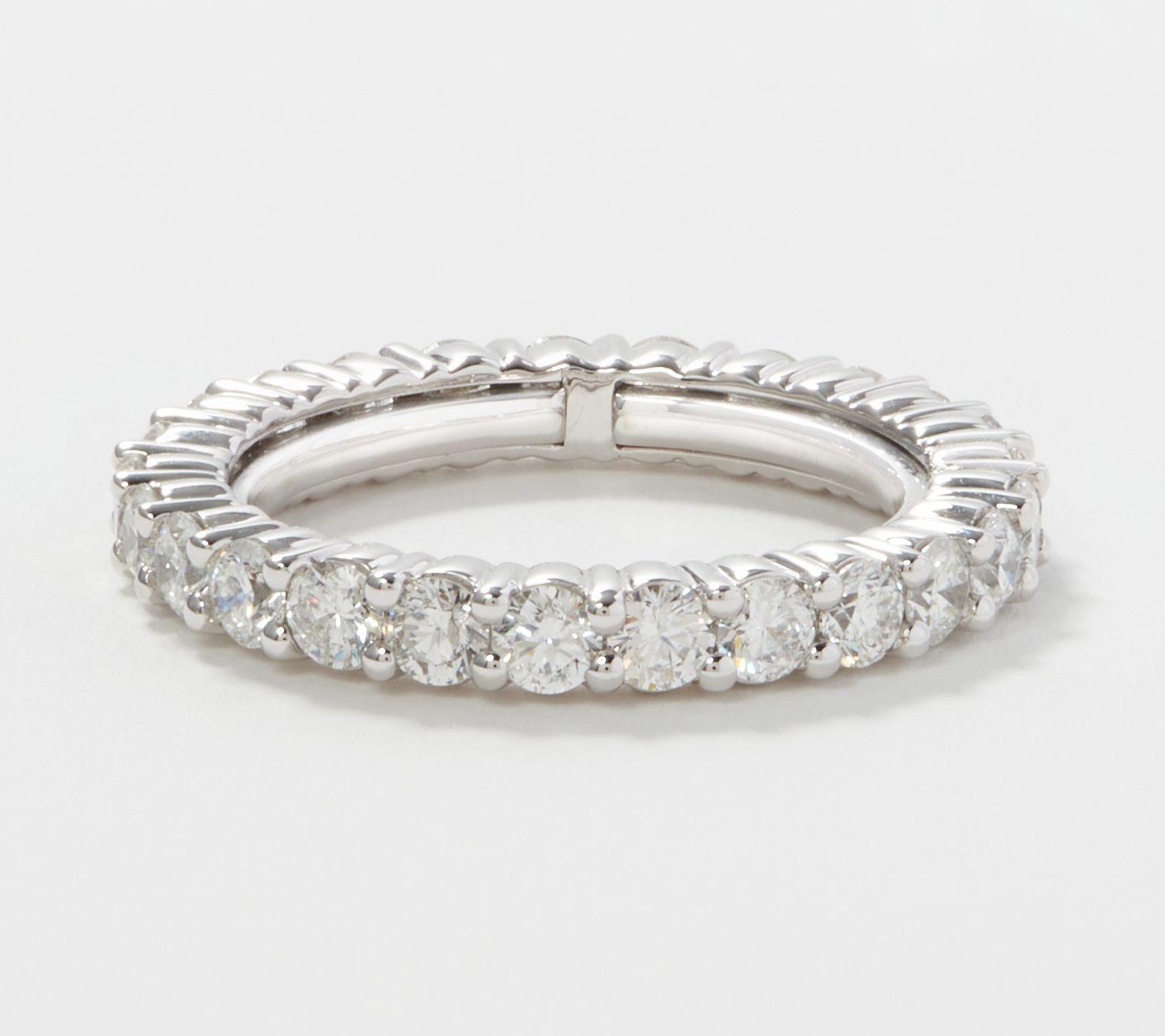 Affinity 14k Gold Flexible Diamond Eternity Ring 1 80 2 30cttw