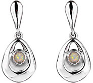 Hagit Sterling Silver Opal Dangle Earrings - J375591