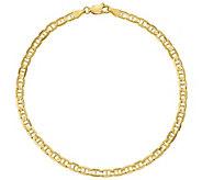 14K Gold 9 Mens Concave Anchor Bracelet, 5.3g - J384391