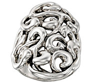 Hagit Sterling Silver Swirled Ribbon Ring - J385391