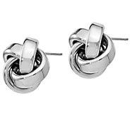 Italian Gold Ribbon Love Knot Earrings, 14K White Gold - J385591