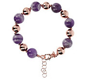 Bronzo Italia Gemstone Alternating Bead Bracelet - J385991