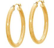EternaGold 1-1/4 Polished Bright-Cut Round Hoop Earrings, 14K - J386191