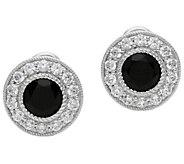 Judith Ripka Sterling Spinel & Diamonique Button Earrings - J387691
