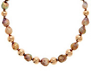 As Is Honora 10.5-13.5mm Ming Cultured Pearl & Bronze 20 Necklace - J292492