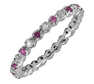Simply Stacks Sterling Amethyst & Diamond Stackable Ring - J298692