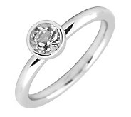 Simply Stacks Sterling 5mm Round White Topaz Solitaire Ring - J298792