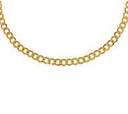 22 Polished Curb Link Necklace, 14K Gold14.20g - J308992