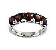 Sterling 3.15 cttw Garnet 5-Stone Ring - J311192