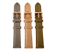 Bronze Set of 3 Leather Watch Straps by BronzoItalia - J313892
