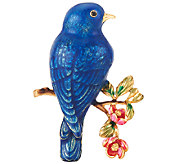 Joan Rivers Flights of Fantasy Bluebird Pin - J321092