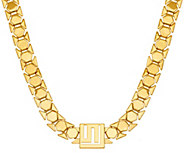 As Is Stella Valle Goldtone or Silvertone Logo Chain Necklace - J331092