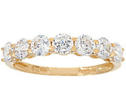 Diamonique 7-Stone Band Ring, 14K Gold - J334692