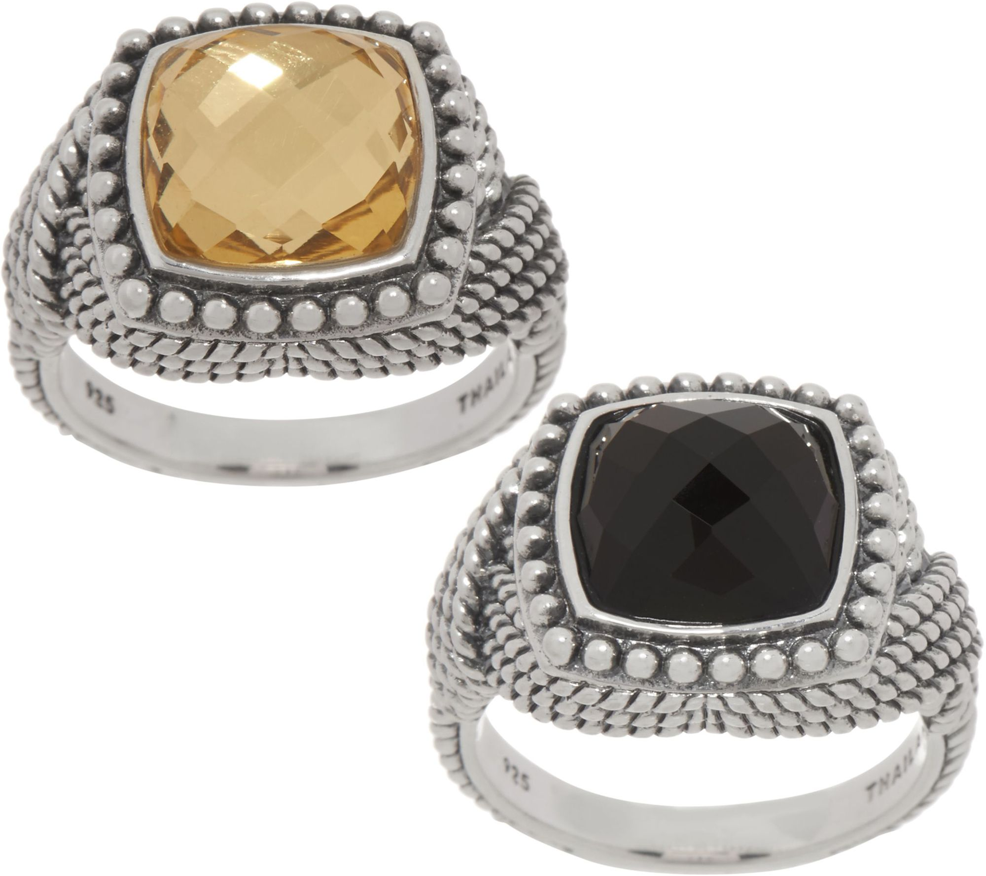 9e4e48f085534 Tiffany Kay Studio Sterling Silver Cushion Cut Eyelet Ring — QVC.com