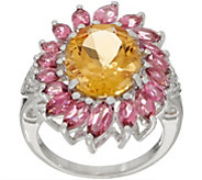 Mixed Gemstone Flower Ring, Sterling Silver - J355792