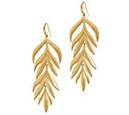 Tropical Leaf Dangle Earrings - J356492