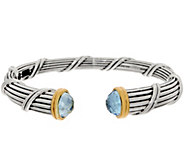 Peter Thomas Roth Sterling & 18K Clad Blue Topaz Cuff, 49.1g - J356992