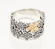 Or Paz Sterling Silver Graduated Two-Tone Flower Band - J361192