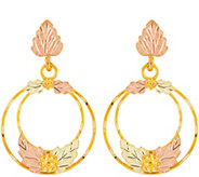 Black Hills Double Circle Earrings 10K/12K - J376892