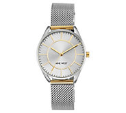 Nine West Ladies Two-tone Mesh Bracelet Watch - J381092