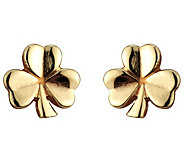Solvar 14K Shamrock Stud Earrings - J383392