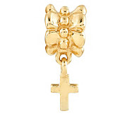 Prerogatives 14K Yellow Gold-Plated Sterling Cross Bead - J302893