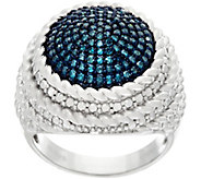 Round Pave Diamond Ring, Sterling, 1/2 cttw, by Affinity - J326893