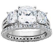 Epiphany Diamonique 4.50cttw 2-Piece Bridal Ring Set - J340793