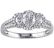 Oval & Round Diamond Ring, 9/10 cttw, 14K Gol dby Affinity - J341893