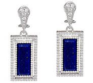 Judith Ripka Sterling Lapis  & Diamonique Earrings - J343793