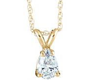 Pear Diamond Pendant, 14K Yellow Gold, 1 ct, byAffinity - J345293