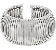 Bronze Bold Domed Tubogas Cuff Bracelet by Bronzo Italia - J349193