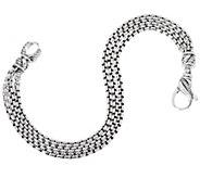 JAI Sterling Silver Triple Strand Box Chain Bracelet, 18.0g - J351693