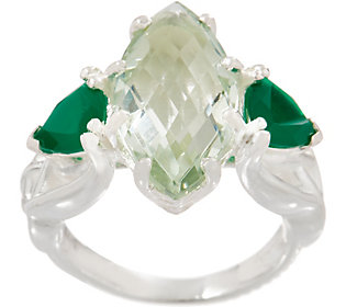 JMH Jewellery Sterling Silver Green Quartz andGreen
